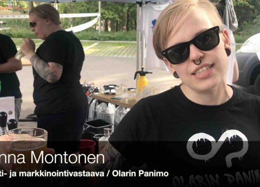 Henkilökuvassa Olarin Panimon myynti- ja markkinointivastaava Hanna Montonen