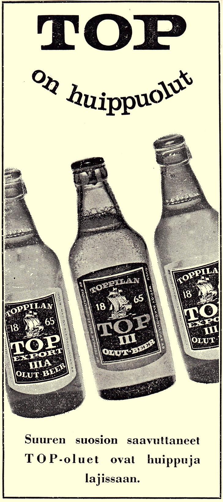 vintage olutmainos