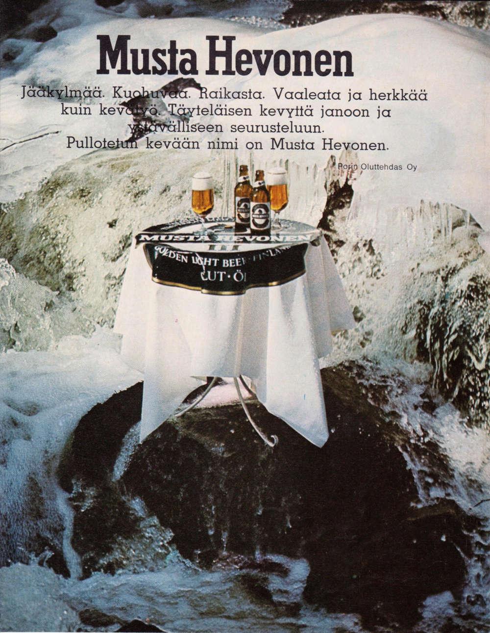 Musta Hevonen olutmainos