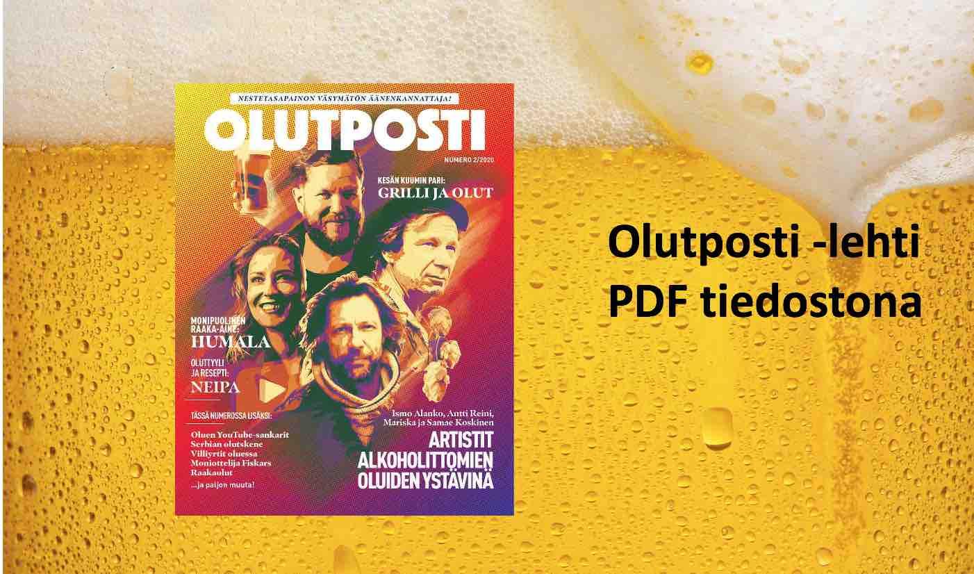 Kuvassa Olutposti lehden kansi