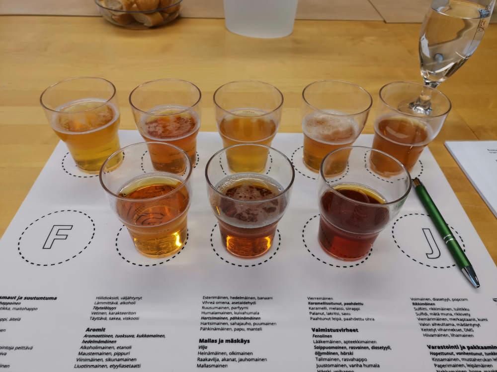 Erilaatuisia oluita maistelulaisessa