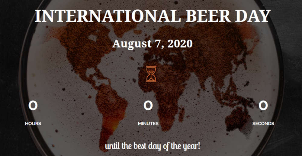 international beer day logo