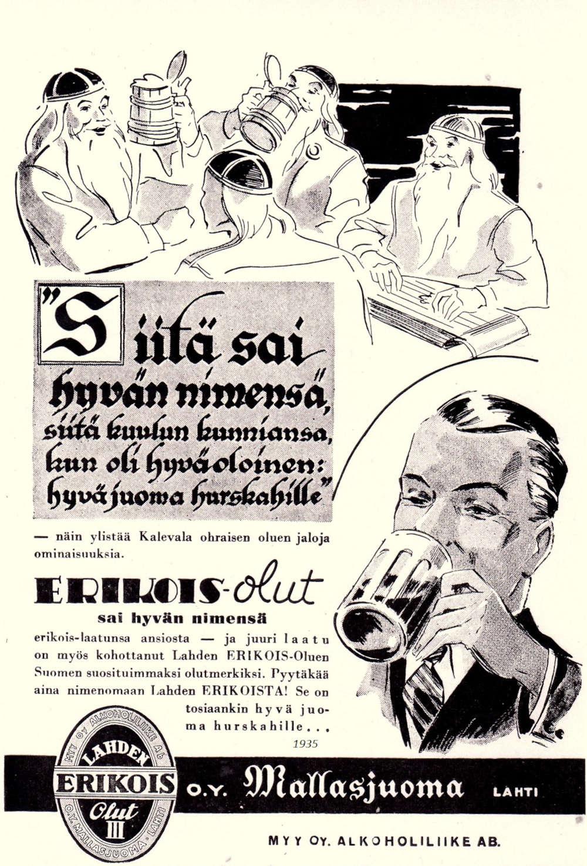 vanha olutmainos