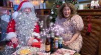 Kuvassa Joulupukki ja joulu oluet