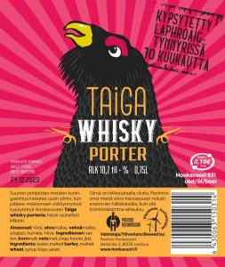 Kuvassa olutpullon etiketti