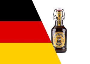 Olutpullo ja Saksan lippu