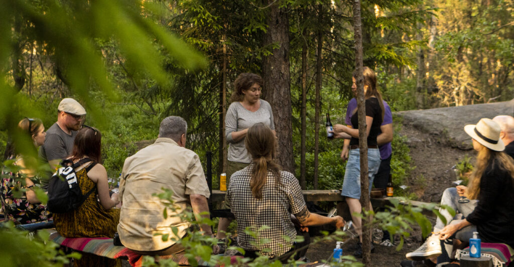 Beer in the Woods -tasting Nuuksion metsässä