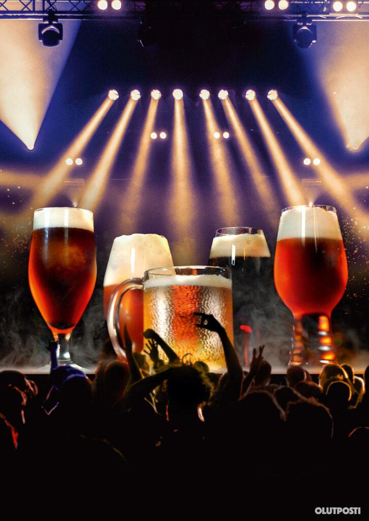 Olutlasit rock-tähtinä lavalla