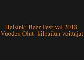 Videoesittelyssä Helsinki Beer Festival -tapahtuman Vuoden Olut- kilpailun voittajat.