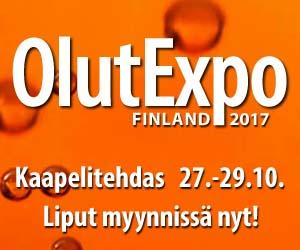 OlutExpo Finland 2017 Kaapelitehdas 27.-29.10.