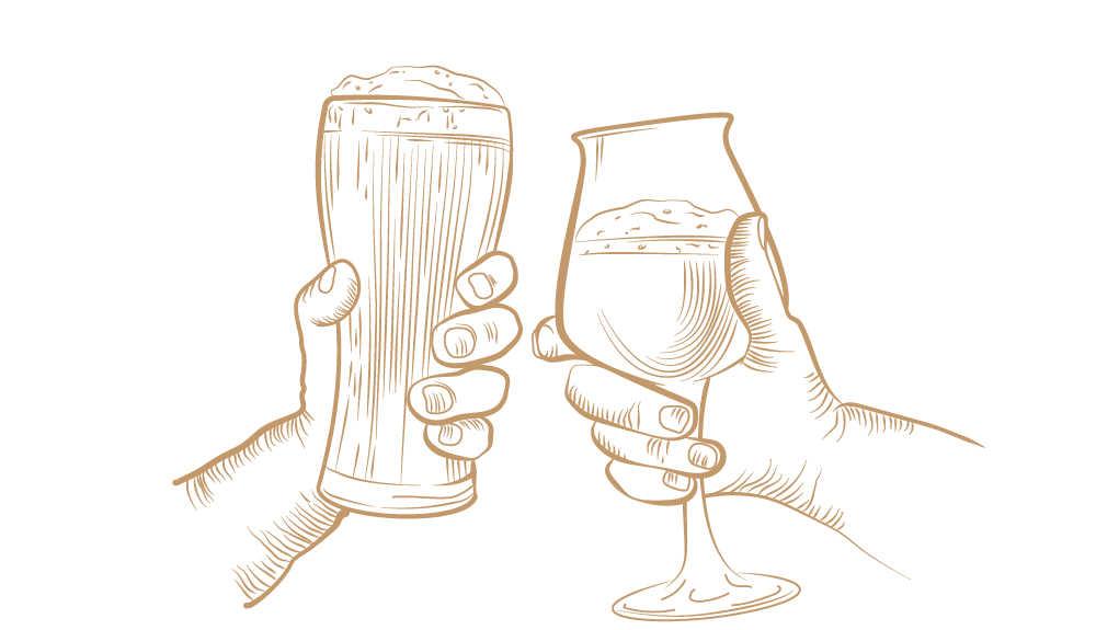 kaksi lasia kippistää